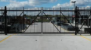 Cantilever rail gate